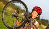 Mending tube de vélo - comment il a fait