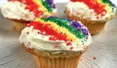 Jour de St Patrick Recettes: Trouver l'o'Gold Pot Rainbow Cupcakes