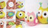 Bricolage crochet Owls - Patrons gratuits