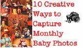 10 façons créatives pour capturer bébé mensuel Photos
