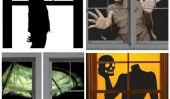 20 Spooky Halloween Décoration de fenêtre