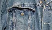 Veste en jean sans manches - afin de personnaliser encore d'une vieille veste