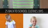 25 Meilleur Retour aux vêtements scolaires DIYs!