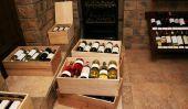 Pour utiliser de vieilles caisses de vin comme décoration atmosphérique