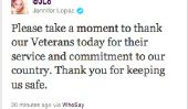 La Journée des anciens combattants heureux: 11 Celebrity parents donnent Merci aux soldats de JLo au Real Housewives