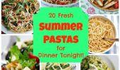 20 Summer frais Pastas pour le dîner ce soir!