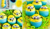 Dyed Minion Easter Eggs bricolage