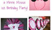 Bonté Minnie 1er Birthday Party souris!