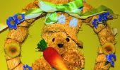 Pâques - des instructions pour faire une guirlande colorée de porte