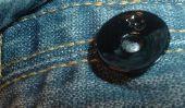 Fixer Jeans Button avec des pinces - est comment cela fonctionne: