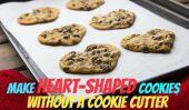 Assurez cookies en forme de coeur Sans Cookie Cutter!