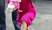 Suri Cruise, Violet Affleck Et Autres Celeb enfants qui basculent nuances de rose (Photos)