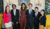 Poètes nationaux étudiants Rencontrez Première Dame Michelle Obama