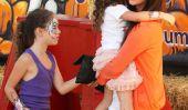 Soleil Moon Frye Spotted cueillette de citrouille avec ses filles!  (Photos)