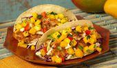 Fit et rapide: Baja Fish Tacos avec salsa à la mangue