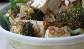 Blanc Miso Tofu sur Smoky Almond Brocoli