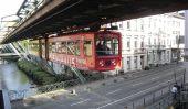 Suspendre le train de l'Allemagne: Wuppertal Schwebebahn