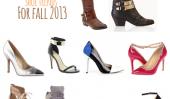 Top 10 Tendances de chaussures pour l'automne 2013