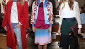 Rue Tendance style de la Fashion Week: rose et rose