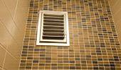Salle de bain sans fenêtre - donc vous assurer une bonne ventilation