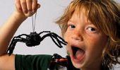 Spiderman - il est si la fête d'anniversaire d'un drôle enfants dans un signe de l'araignée