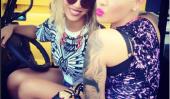 Amber Rose Messages New Pic Avec Beyonce Et at-elle obtenu un nouveau tatouage?  (Photos)