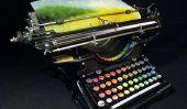 Typewriter chromatique: une machine à écrire que les peintures