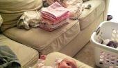 Comment plier blanchisserie Avec un nouveau-né