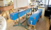 Vintage magnifique mobilier industriel