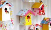 Nichoirs papier de bricolage avec des modèles
