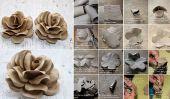 DIY Project: How To Make Roses utilisant des tubes de toilettes