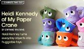 Heidi Kennedy de My Paper Crane de tourner des objets quotidiens en jouets huggable en 5-Minute Time Out de Babble.