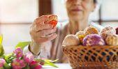 La fabrication de vases de Pâques et des bougies - Pâques bricoler avec les aînés