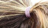 Les cheveux longs collés - de sorte qu'il devient plus facile