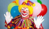 Face peinture de clown fait face - comment cela fonctionne: