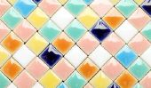 Mosaïque - modèle pour une mosaïque de tuiles anciennes