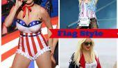 Happy Day Flag!  11 Célébrités Vous cherchez Rouge, Blanc, et frais en drapeau-inspiré tenues