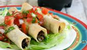 Haricots noirs Taquitos poulet