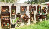 Utilisez des vieilles caisses pour décorer votre jardin