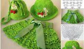 Adorable Crochet Jupe, Chapeau et sac Set pour les petites filles - Patron Gratuit