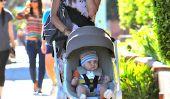 Alessandra Ambrosio est sorti se promener avec bébé Noah (Photos)