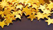 Artisanat de Noël avec les personnes âgées - une étoile simple et des chaînes de papier glacé