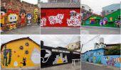 Taïwanais Village se transforme avec des peintures murales de bande dessinée