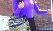 Dynamiques: Lisa Vanderpump in Purple Mais fait noir et bleu!