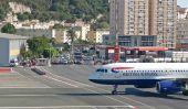 Étrange Aéroport: Gibraltar, Seulement piste de l'aéroport de monde coupant une route