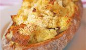 Facile oeufs au four à pain ciabatta pour le petit déjeuner