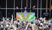 Paul McCartney 'Nouveau' album 2013: L'ancien Beatle donne Surprise mini-concert à Times Square Avant Record Date de sortie
