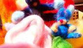 Bricoler avec les enfants de décoration de Pâques à partir de laine à feutrer - feutrage pour Pâques