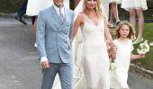 Kate Moss se marie avec sa fille Lila à côté d'elle: Check Out la robe de mariée de Kate!  (Photos)