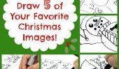Comment dessiner 5 de votre favori Images de Noël!